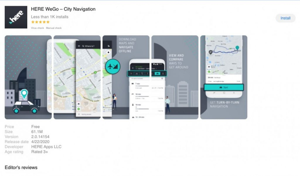 Here WeGo Maps comes to Huawei App Gallery 2