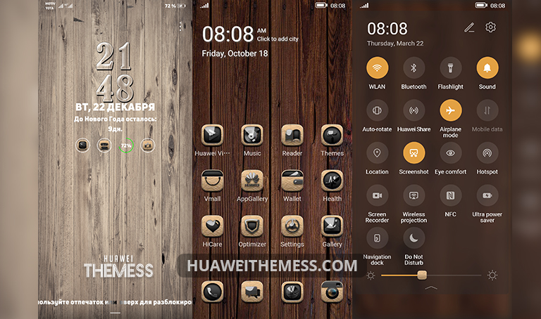 Magic Wood Theme for EMUI 10/9 and MagicUI 3/2