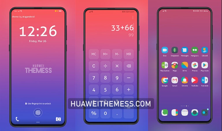 Gradientrance Theme for EMUI 10/11 and MagicUI 4/3