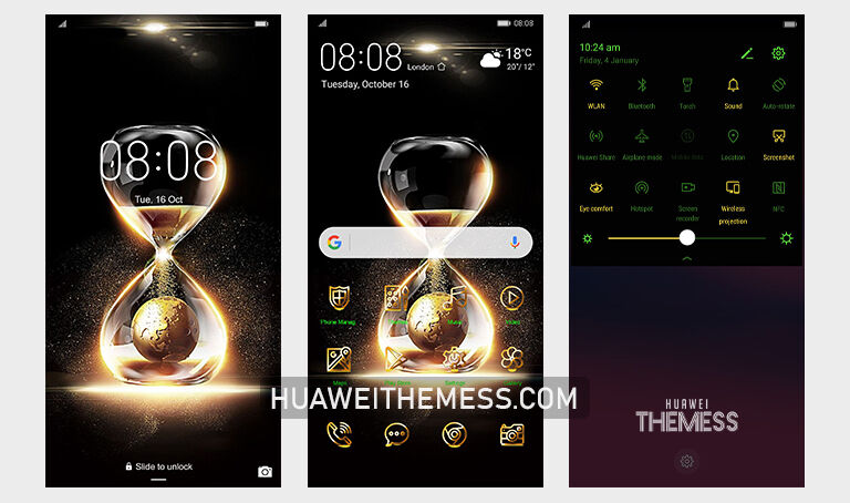 Gold Time Theme for EMUI 9/10/11 and MagicUI 4/3/2